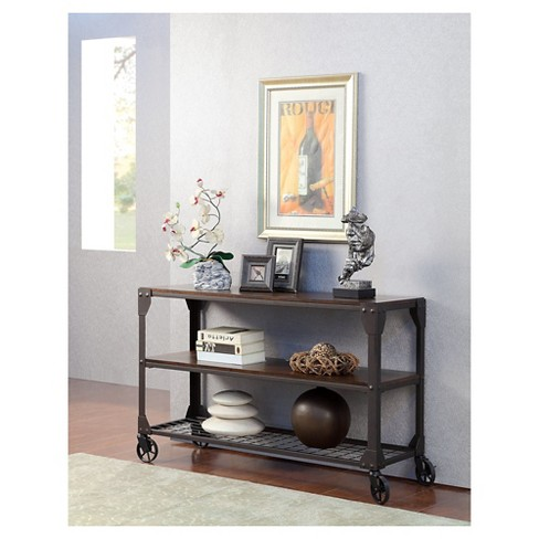 Gregor Industrial Sofa Table Black - Furniture of America - image 1 of 3