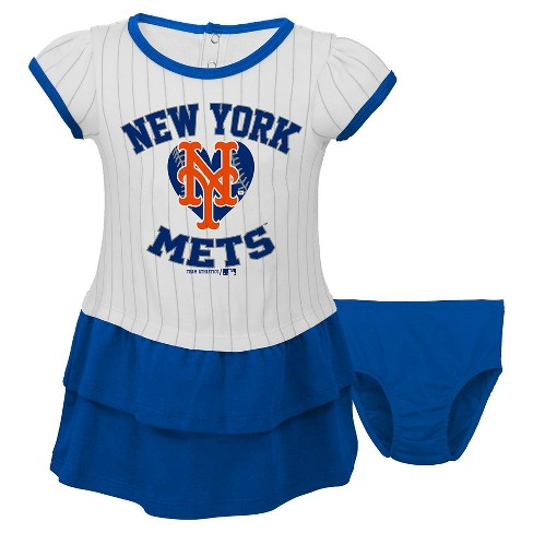 the best attitude e410c 0f70f New York Mets Baby Girls' Pinstripe Dress & Bloomers Set 18M