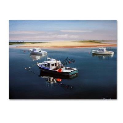 "24"" x 32"" Cape Cod Fishing Boats by Paul Walsh - Trademark Fine Art"