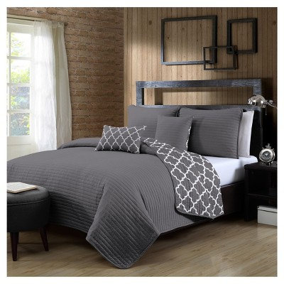 Gray Griffin Quilt Set (King)5pc