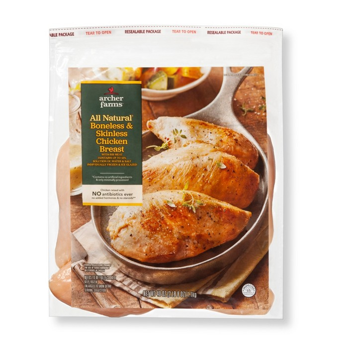 All Natural Boneless & Skinless Chicken Breast - 2.5lbs - Archer Farms™ - image 1 of 2