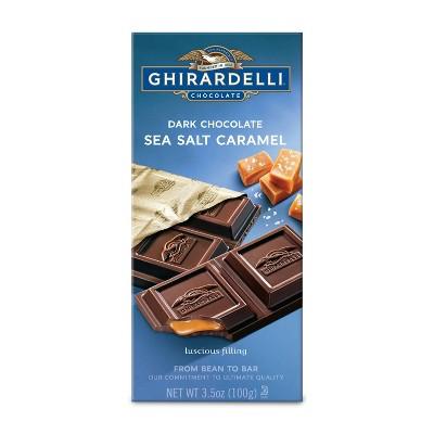Ghirardelli Dark Chocolate & Sea Salt Caramel Bar - 3.5oz