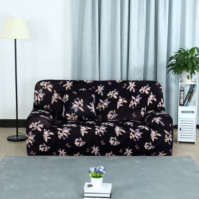 PiccoCasa Household Elastic Sofa Chair Butterfly Flower Polyester Spandex Sofa Slipcovers 1 Pc