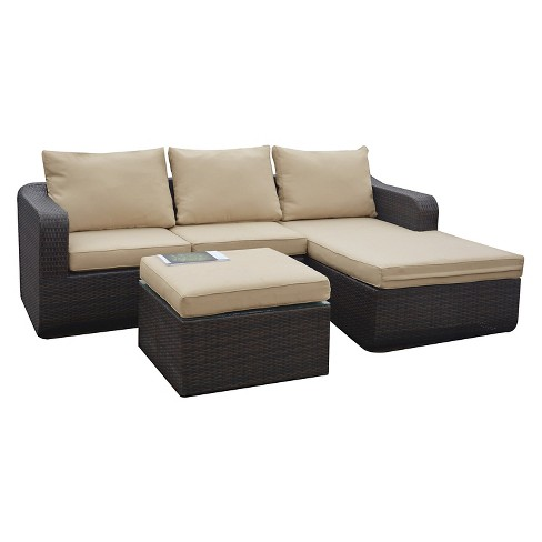 Luies 3-Piece All-Weather Wicker Patio Conversation Set - image 1 of 10