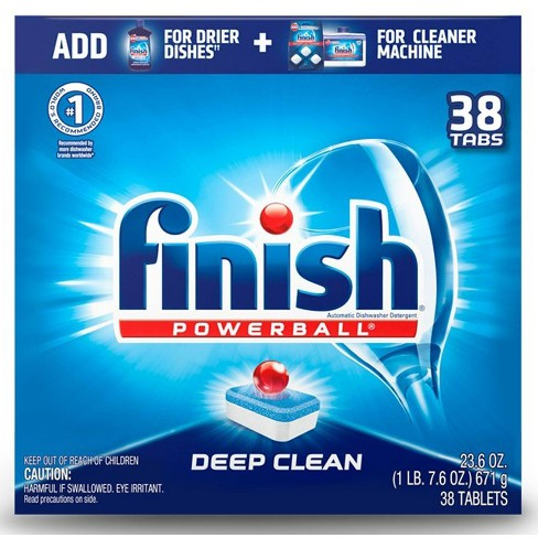 Finish Powerball Tabs Dishwasher Detergent Tablets Fresh Scent - 38ct - image 1 of 1