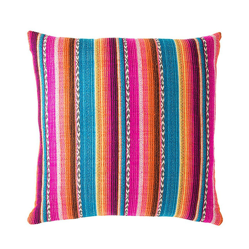 "Image of ""22"""" Rosado Striped Throw Pillow - Jaipur Living"""