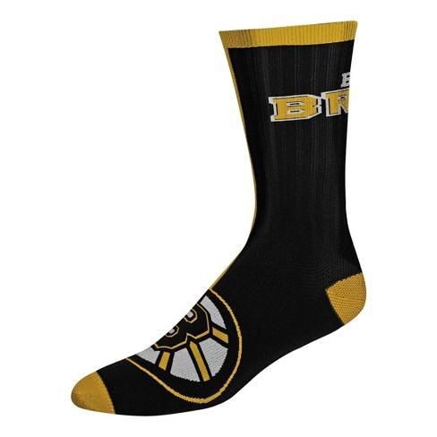 NHL Boston Bruins Sport Big Crew Socks - L - image 1 of 1