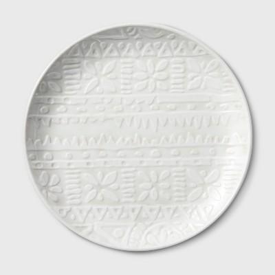 10.5  Melamine Dinner Plate White - Threshold™