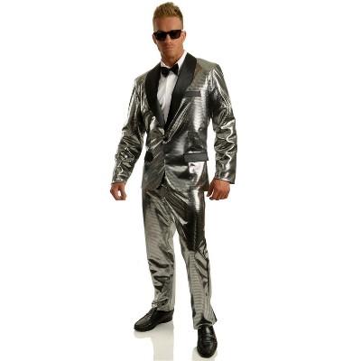 Charades Disco Ball Tuxedo Set w/Pants Costume