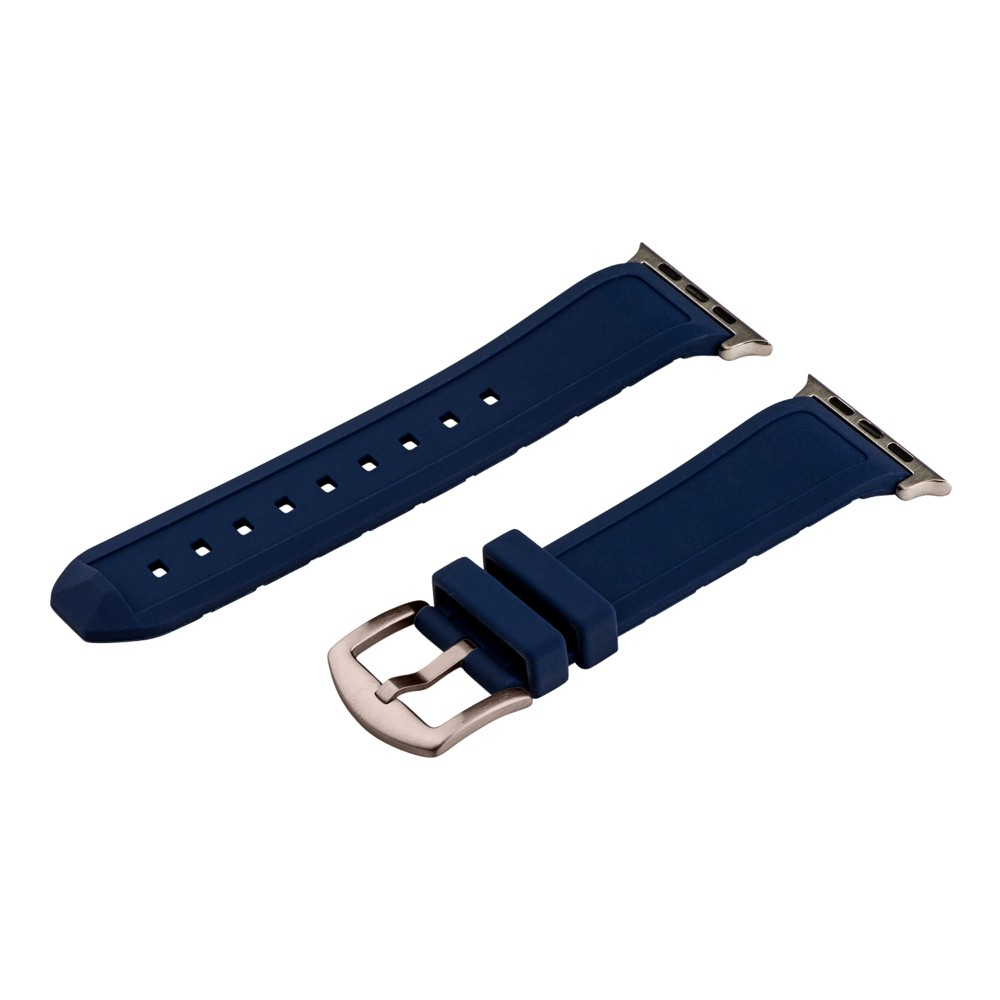 Clockwork Synergy Divers Silicone Apple Watch Band 42mm with Steel Adapter - Navy Blue, Adult Unisex Customize the look of your watch with the Divers Silicone Apple Watch Band from Clockwork Synergy. Crafted from high-quality silicone, this turquoise watchband ensures soft, comfortable wear and long-lasting durability. Whether you make this your go-to band for everyday wear, or you switch it out depending on your outfit, you'll love sporting a unique accessory that complements your personality. Color: Blue. Gender: Unisex. Age Group: Adult.