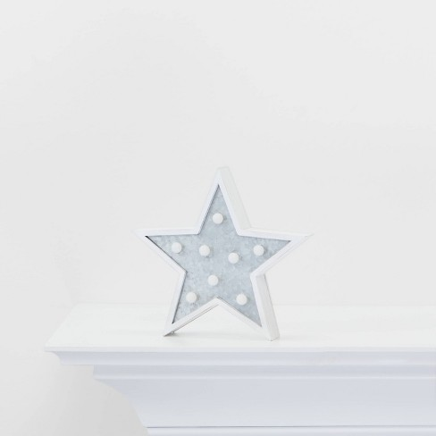 Mini Marquee Star Wall Sign - Wondershop™ - image 1 of 2