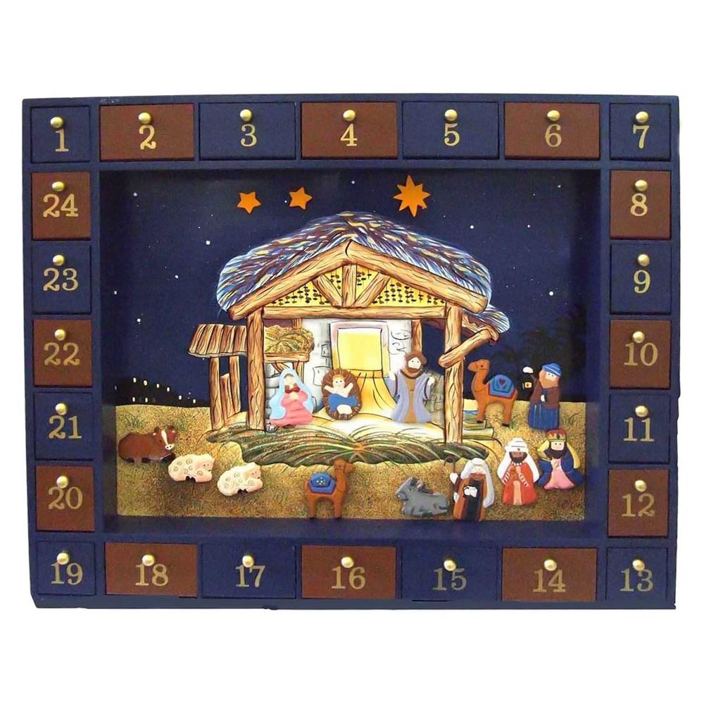 Image of 25pc Nativity Advent Christmas Calendar
