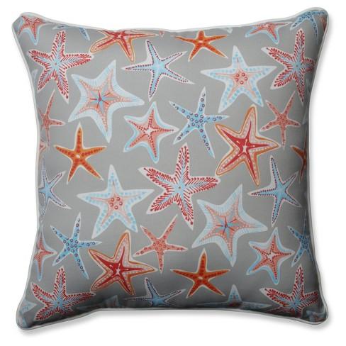 Outdoor/Indoor Stars Collide Gray Floor Pillow - Pillow Perfect - image 1 of 1