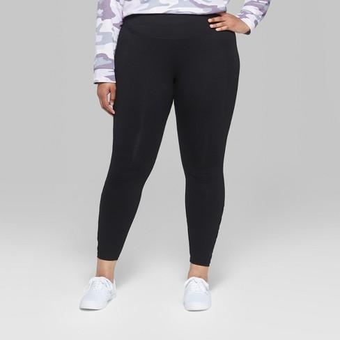 ecbd32630b9 Women s Plus Size Mesh Strappy Ankle Detail Leggings - Wild Fable™ Black