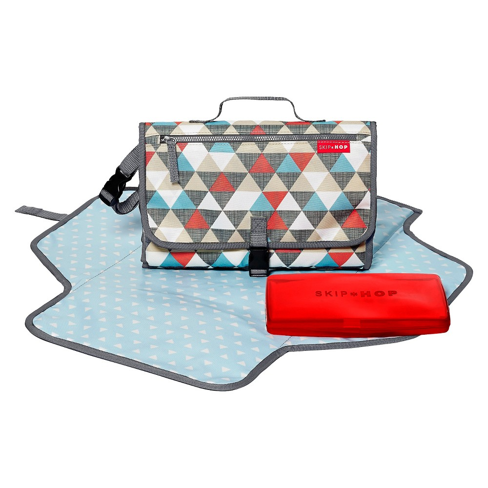 Image of Skip Hop Pronto Baby Changing Station & Diaper Clutch, Triangles