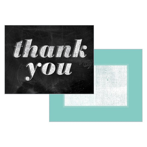 Green Inspired 10ct Chalk Talk Thank You Cards - image 1 of 1