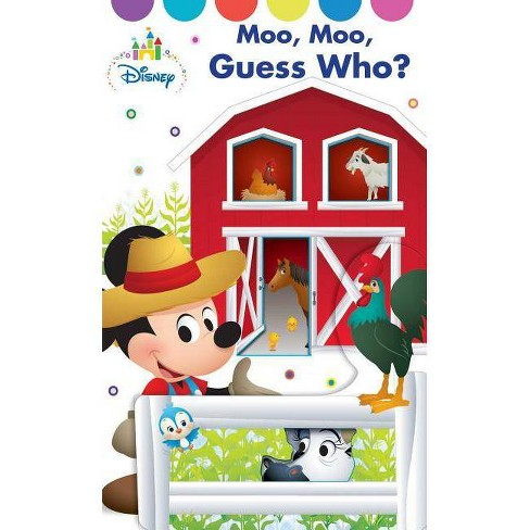 Disney Baby Moo Moo, Guess Who? - by  Sally Little (Hardcover) - image 1 of 1