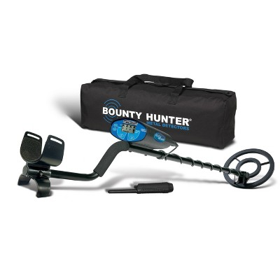 Bounty Hunter Quick Silver with Pinpointer and Carry Bag - Black