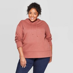 Women's Plus Size Long Sleeve Pullover Hoodie - Ava & Viv™