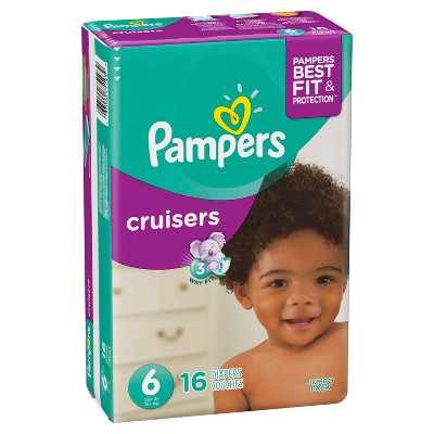 Pampers Cruisers Diapers Jumbo Pack - Size 6 (16ct)