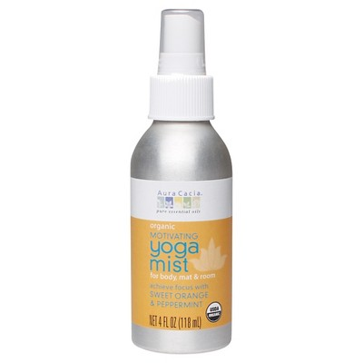 Aura Cacia Women's Organic Motivating Yoga Mist - Sweet Orange and Peppermint - 4 fl oz