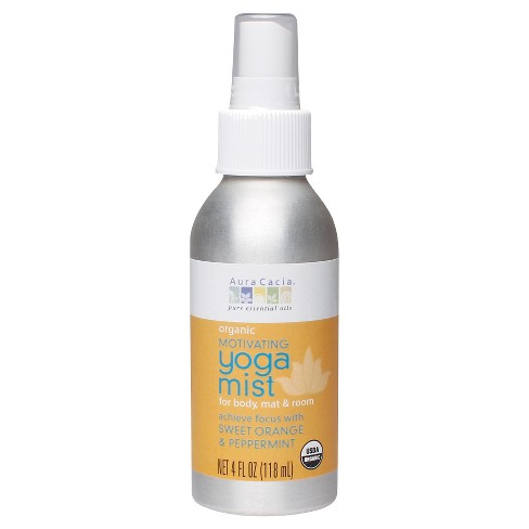 Aura Cacia Organic Motivating Women's Yoga Mist with Sweet Orange and Peppermint - 4oz - image 1 of 1