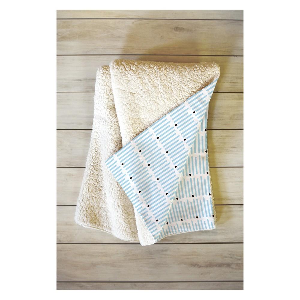 Image of 50''x60'' Caroline Okun Keene Stripes Throw Blanket Blue - Deny Designs