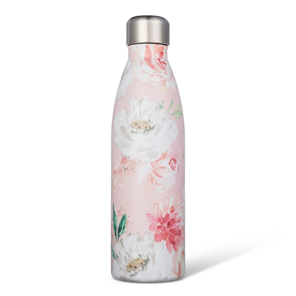 17.5oz Stainless Steel Tumbler Pink Floral