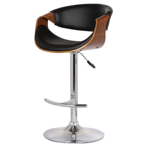 Groovy Butterfly Adjustable Swivel Barstool Black Armen Living Beatyapartments Chair Design Images Beatyapartmentscom