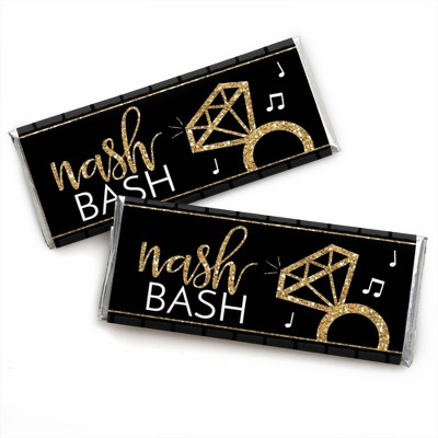 Big Dot of Happiness Nash Bash - Candy Bar Wrapper Nashville Bachelorette Party Favors - Set of 24