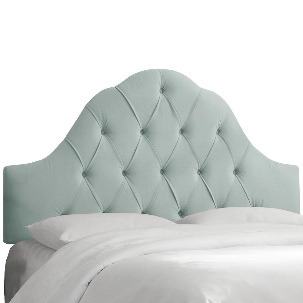 Arched Tufted Headboard - Velvet Pool - King - Skyline Furniture