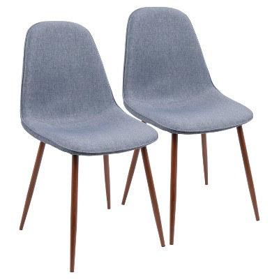 Set of 2 Pebble Mid-Century Modern Dining Accent Chairs - LumiSource
