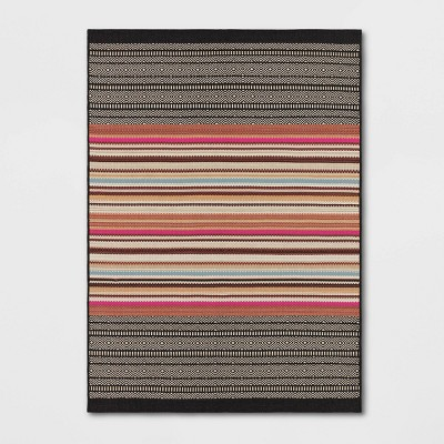 Outdoor Rug Multi Stripe Global Pink - Opalhouse™