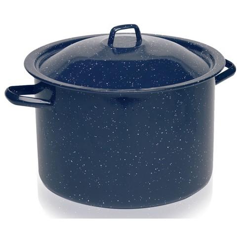 IMUSA 4qt Enamel Stock Pot Blue - image 1 of 4