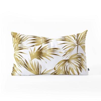 Marta Barragan Camarasa Golden Palms Oblong Lumbar Throw Pillow Bold Gold - Deny Designs