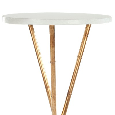 Greenwich Side Table Gold/White   Safavieh® : Target