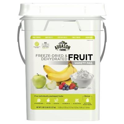 Augason Farms Freeze Dried Fruit Variety Pack Kit - 44oz Pail
