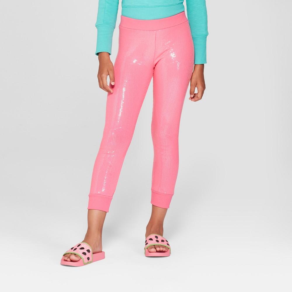 Girls' Nickelodeon JoJo's Closet Sequined Leggings - Pink XL