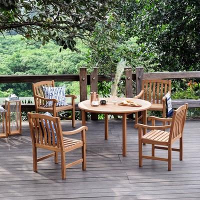 Sherwood 5pc Solid Teak Outdoor Dining Set - Cambridge Casual