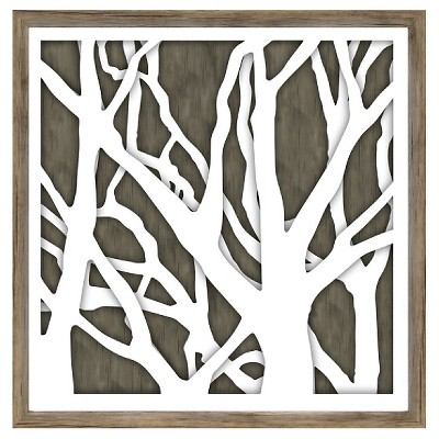 Decorative Framed Wall Canvas 15 x15  - Threshold