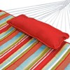 12' Cotton Rope Hammock, Stand, Pad & Pillow Combination Set - Orange - Algoma - image 3 of 4