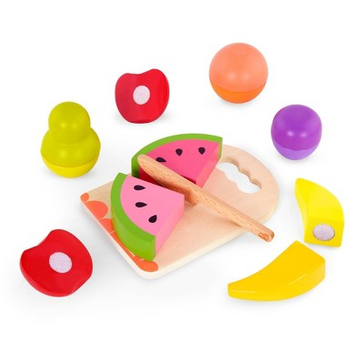 B. toys Wooden Toy Fruits - Chop 'n' Play