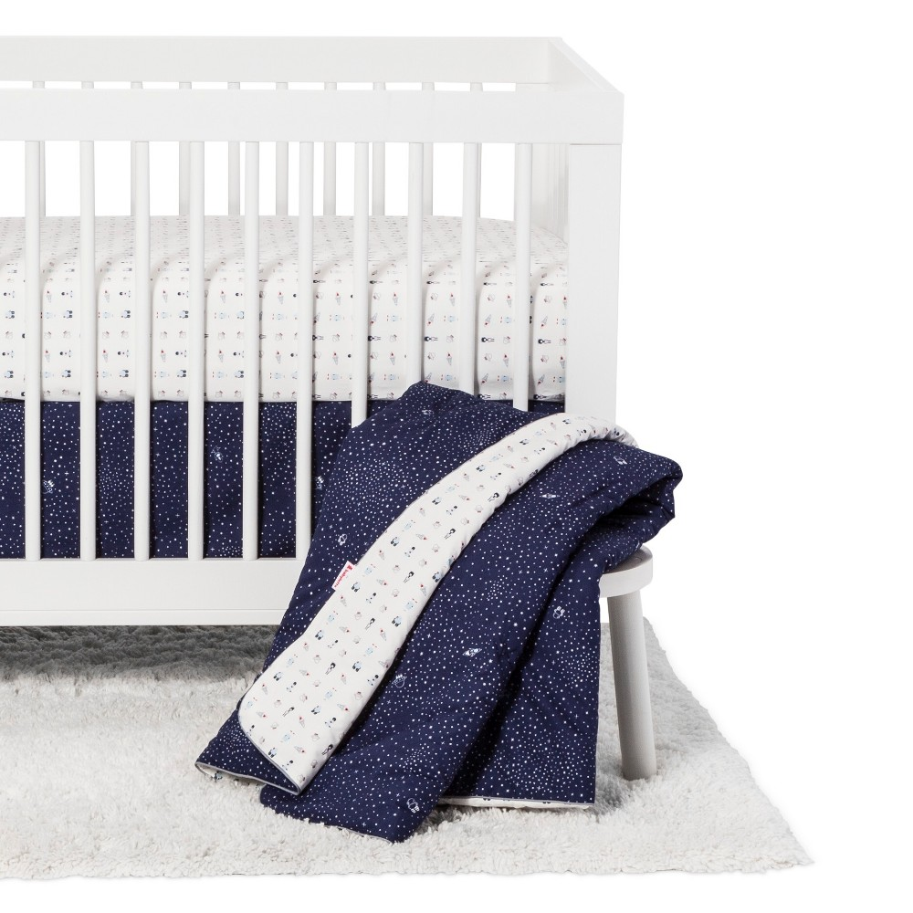 Image of Babyletto 5pc Crib Bedding Set - Galaxy