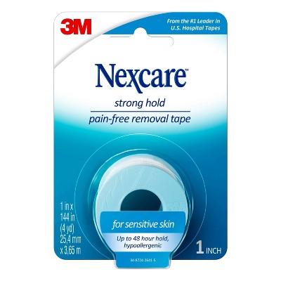 Nexcare Sensitive Skin Tape, Blue, 1 in x 4 yd