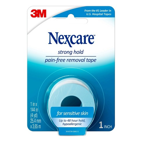 Nexcare Sensitive Skin Tape, Blue, 1 in x 4 yd - image 1 of 4