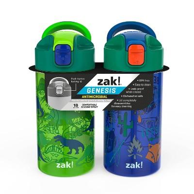 18oz 2pk Plastic Valiant Kids Water Bottle Set - Zak Designs