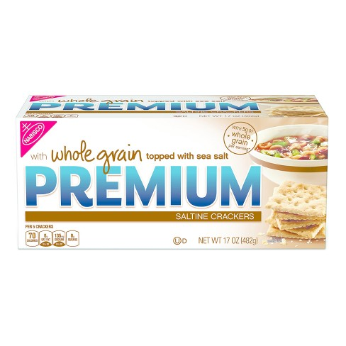 Premium Whole Grain Saltine Crackers - 17oz - image 1 of 1