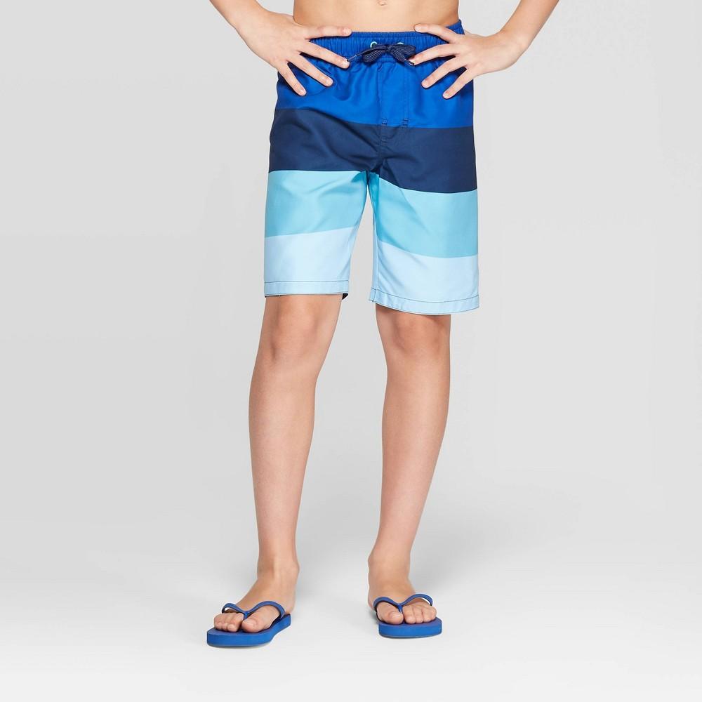 a8d0072e80 Lil Joe Boys Colorblock Swim Trunks Blue M