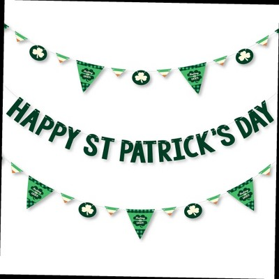 Big Dot of Happiness St. Patrick's Day - Saint Patty's Day Party Letter Banner Decoration - 36 Banner Cutouts & Happy St. Patrick's Day Banner Letters
