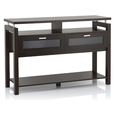 Ambrose Console Table Espresso - HOMES: Inside + Out